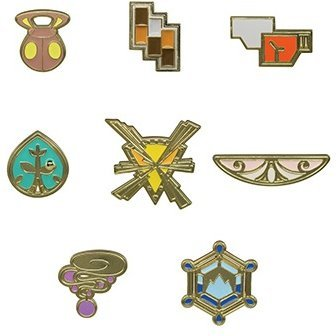 Pokemon: PokeMetal Collection Gym Badge Special -Kalos Ver.- (Set of 8 pieces)