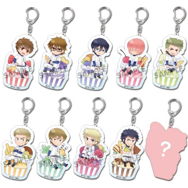 Pikuriru! Ace of Diamond Trading Acrylic Keychain (Set of 10 pieces)
