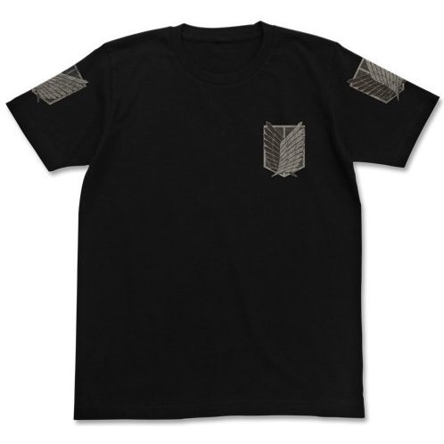 Attack on Titan T-shirt The Survey Corps Black S