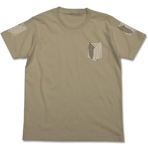 Attack on Titan T-shirt The Survey Corps Sand Khaki L [Re-run]
