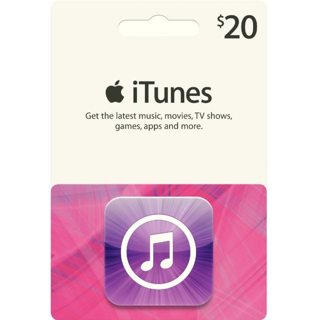 iTunes Card (US$ 20 / for US accounts only)