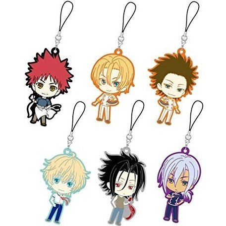 Shokugeki no Soma Trading Rubber Strap Boys Assort (Set of 6 pieces)