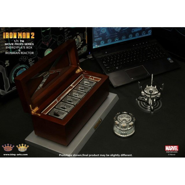 King Arts 1/1 Movie Props Series Iron Man 2: Energy Plate Box & Reactor