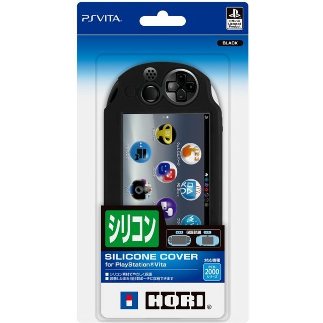 New Silicon Cover for Playstation Vita Slim (Black)