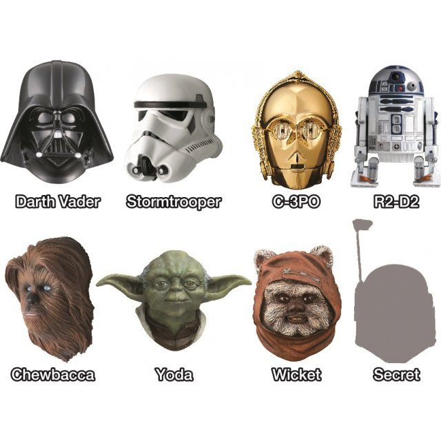 Star Wars Real Mask Magnet Collection -Best Selection- (Set of 8 pieces)