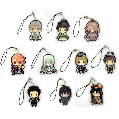 Touken Ranbu -ONLINE- Petit Bit Strap Collection Vol.3 (Set of 10 pieces)
