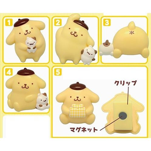 Pom Pom Purin Magnet Clip (Set of 10 pieces)