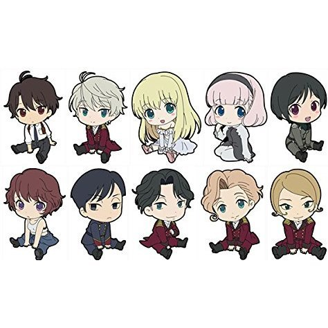 Aldnoah.Zero Petanko Trading Rubber Strap Vol.2 (Set of 10 pieces)