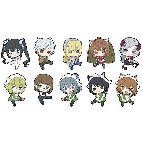 Is It Wrong to Try to Pick Up Girls in a Dungeon? Petanko Trading Rubber Strap (Set of 10 pieces)