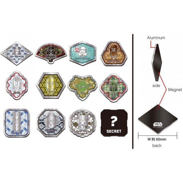 Star Wars Japanese Pattern Metal Magnet (Set of 12 pieces)