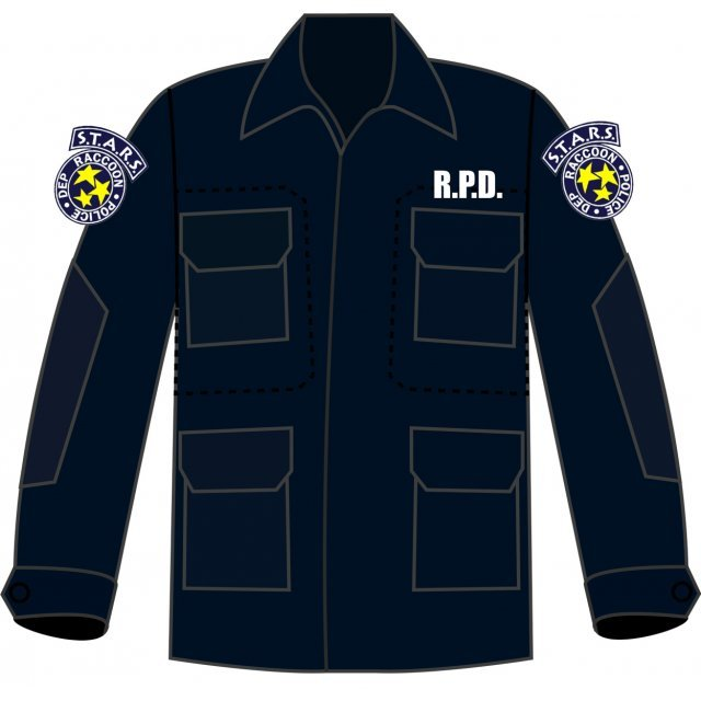 BIOHAZARD 20th BDU Long Sleeve Shirt and Pants Navy XL Size: S.T.A.R.S.