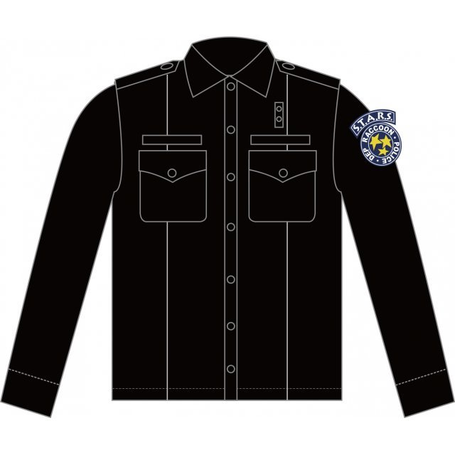 Biohazard S.T.A.R.S. Police Shirt Black (L Size)