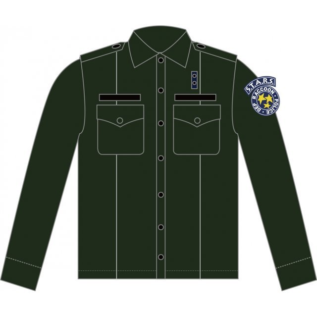 Biohazard S.T.A.R.S. Police Shirt Olive Drab (XL Size)