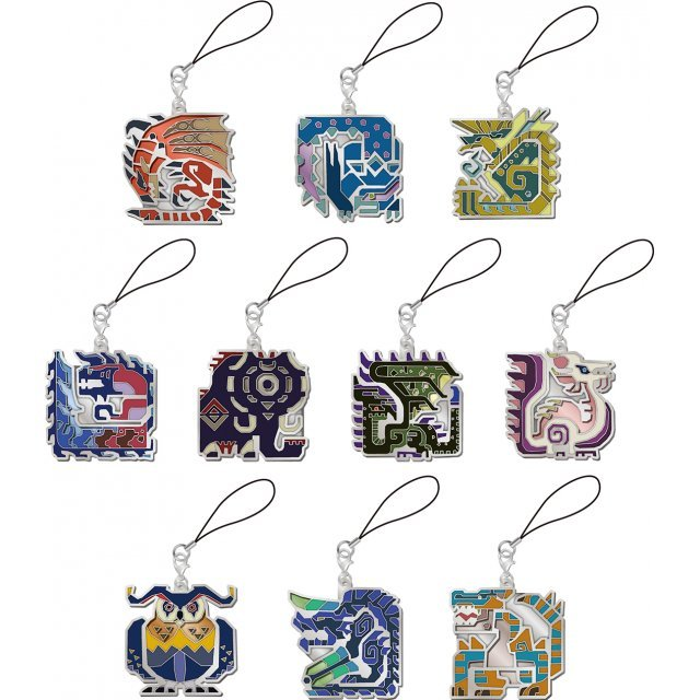 Monster Hunter X Monster Icon Stained Glass Design Mascot Collection (Set of 10 pieces)