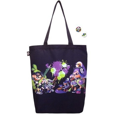 Splatoon Ikasu Tote Bag with Can Badge [Boy & Girl]