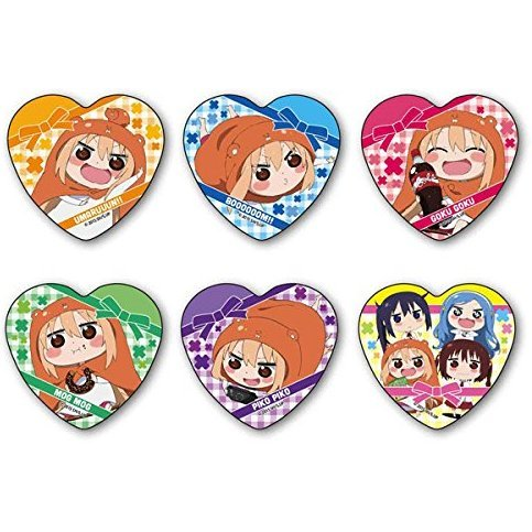 Himouto! Umaru-chan Trading Heart Can Badge Collection (Set of 6 pieces)