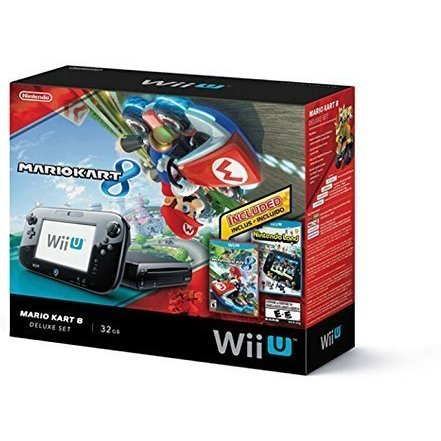 Nintendo Wii U Mario Kart 8 and Nintendo Land Deluxe Set 32GB (Black)