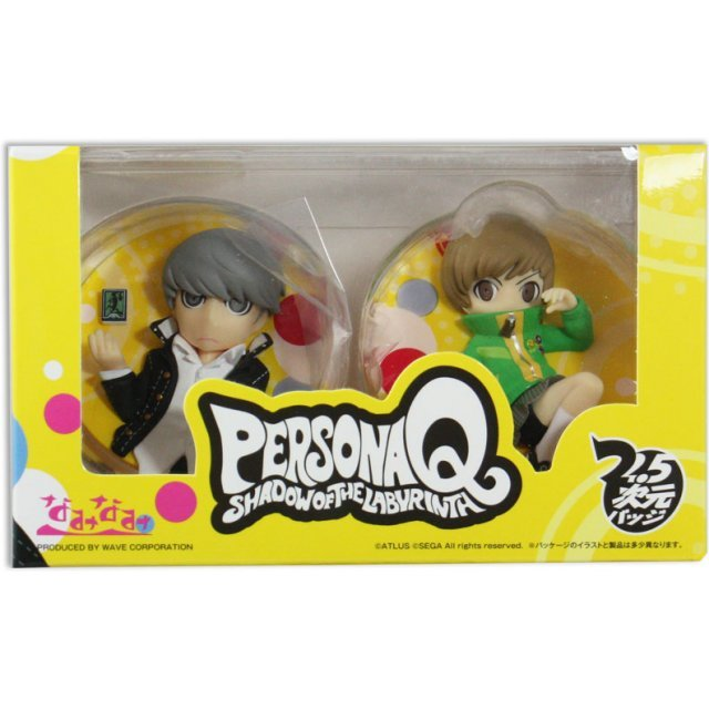 Persona Q Shadow of the Labyrinth Badge: Persona 4 Protagonist & Satonaka Chie