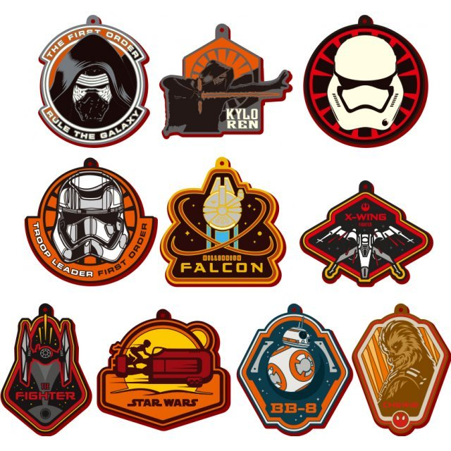 Star Wars Chara Rubber Mascot (Set of 10 pieces)