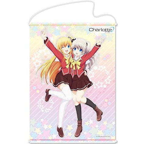 Charlotte B2 Wall Scroll: Tomori & Yusa