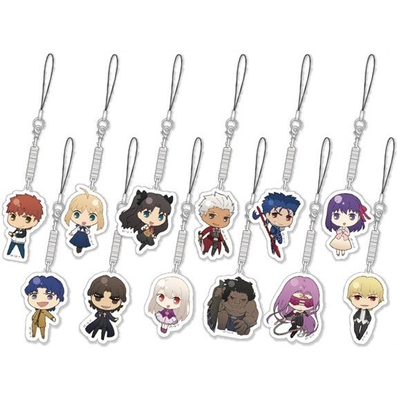 Fate/stay night Unlimited Blade Works Trading Mobile Cleaner (Set of 12 pieces)