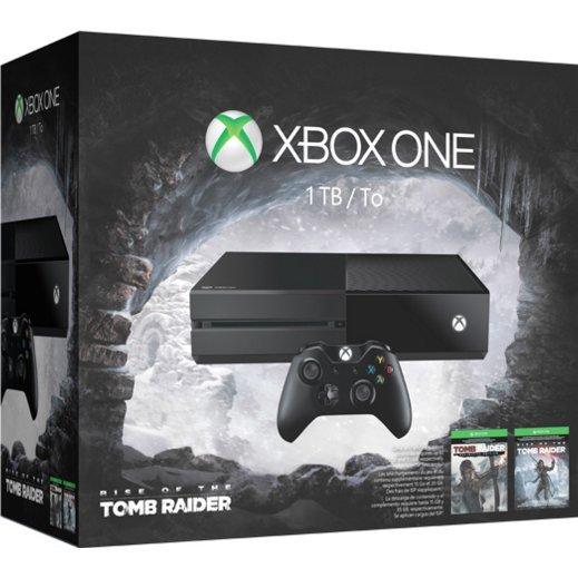 Xbox One 1TB Console System [Rise of the Tomb Raider Bundle Set] (Black)