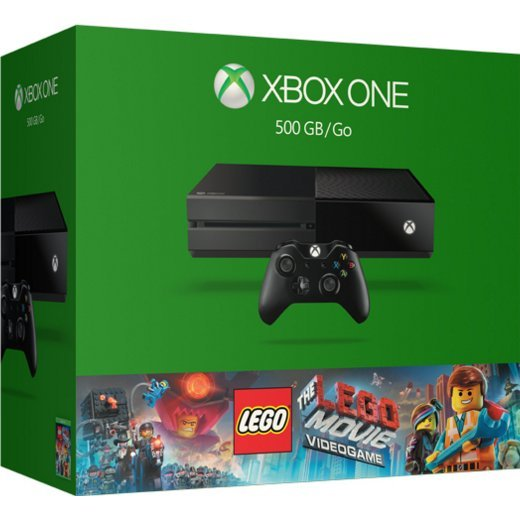 Xbox One 500GB Console System [The LEGO Movie Videogame Bundle Set] (Black)