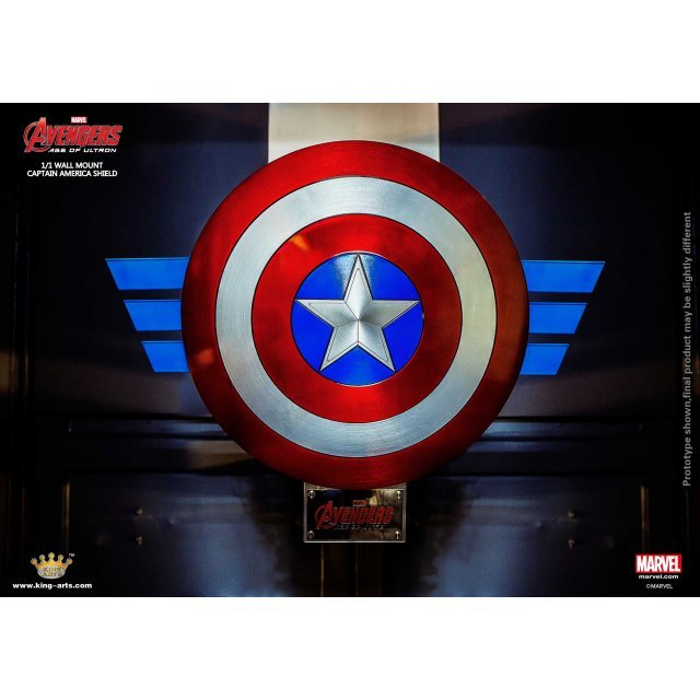 King Arts 1/1 Movie Props Series Avengers Age of Ultron: AUM2 Captain America Shield (Wall Fixed Style)