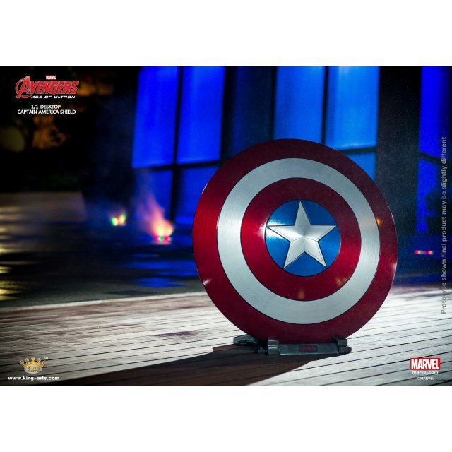 King Arts 1/1 Movie Props Series Avengers Age of Ultron: AUM2 Captain America Shield (Pedestal Style)