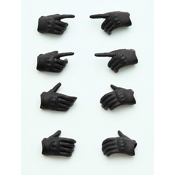 Little Armory 1/12 Scale Runner Kit: LittleArmory-OP3 figma Tactical Gloves (Stealth Black)