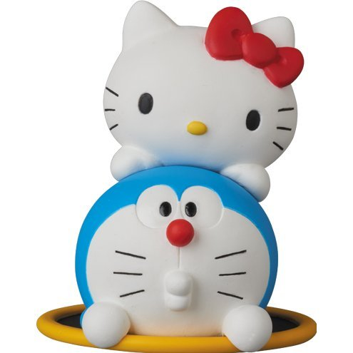Doraemon Meets Hello Kitty Ultra Detail Figure: Doraemon x Hello Kitty & Going Through Hoop