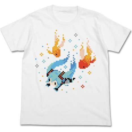 Hatsune Miku Putit Devil Ver. Goldfish T-Shirt White M (Re-run)