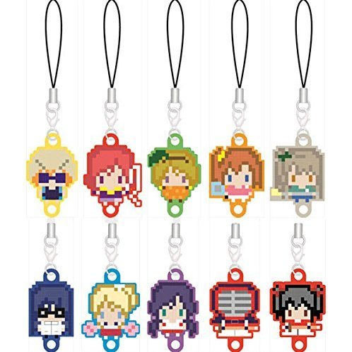 256tan Mini Love Live! Bukatsu-kei Idol Renketsu Rubber Strap Complete Set (Set of 10 pieces)