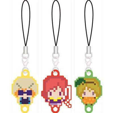 256tan Mini Love Live! Bukatsu-kei Idol Renketsu Rubber Strap First-year Student Ver. (Set of 3 pieces)