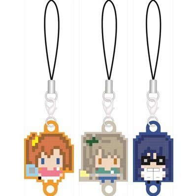 256tan Mini Love Live! Bukatsu-kei Idol Renketsu Rubber Strap Second-year Student Ver. (Set of 3 pieces)
