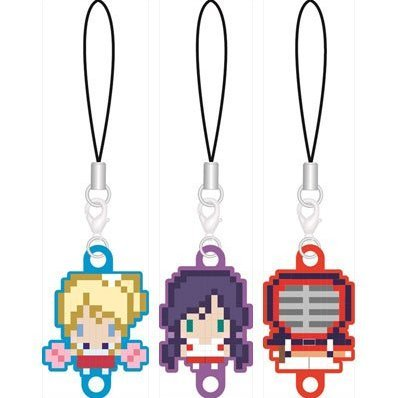 256tan Mini Love Live! Bukatsu-kei Idol Renketsu Rubber Strap Third-year Student Ver. (Set of 3 pieces)