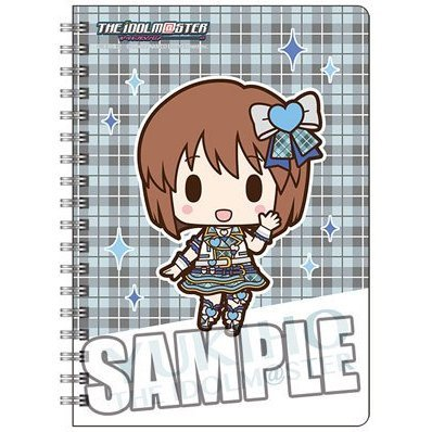 The Idolmaster Ring Notebook B6 W: Hagiwara Yukiho Mini Chara Ver.