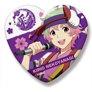 The Idolmaster SideM Heart Can Badge: Nekoyanagi Kirio