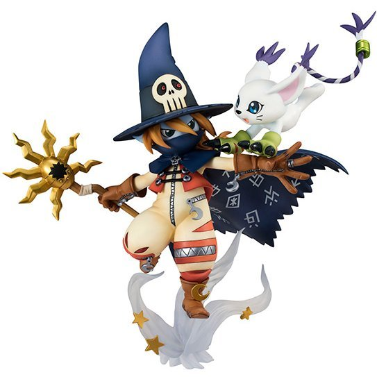 G.E.M. Series Digimon Adventure 1/10 Scale Pre-Painted PVC Figure: Tailmon & Wizardmon