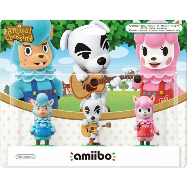 amiibo Animal Crossing Series Figure Triple Set (Cyrus / K.K. / Reese)