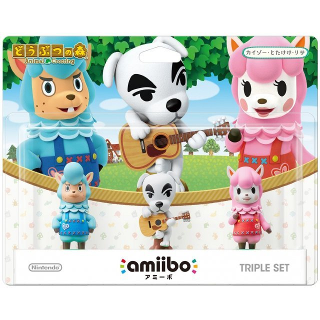 amiibo Animal Crossing Series Figure Triple Set (Totakeke / Kaizo / Risa)