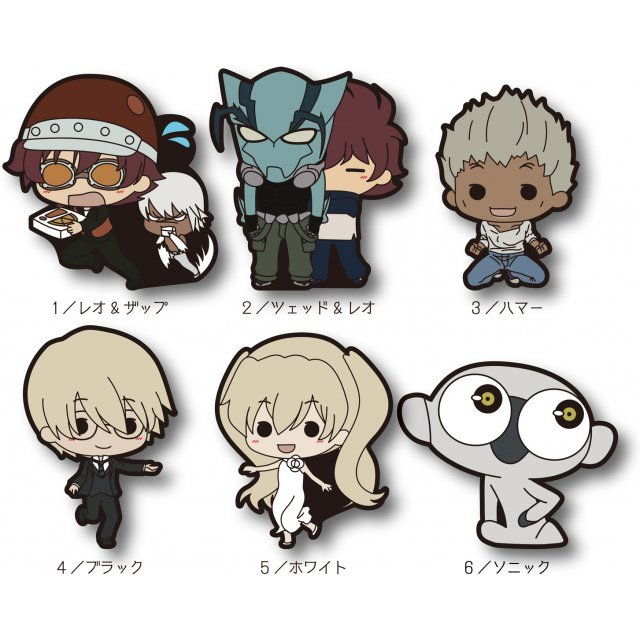 Blood Blockade Battlefront Tiny Rubber Strap Vol.2 (Set of 6 pieces)