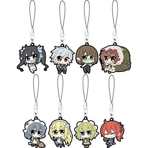 Is It Wrong to Try to Pick Up Girls in a Dungeon Rubber Strap Collection (Set of 9 pieces)