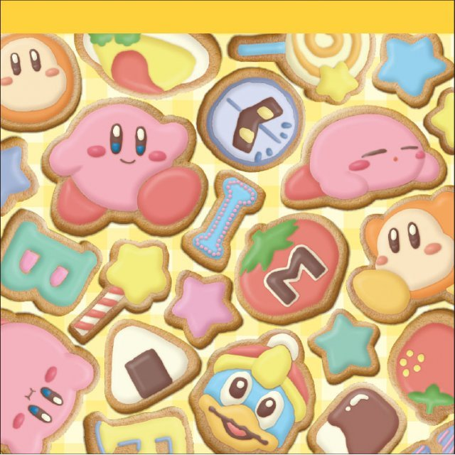 Kirby's Dream Land Square Memo: Icing Cookies