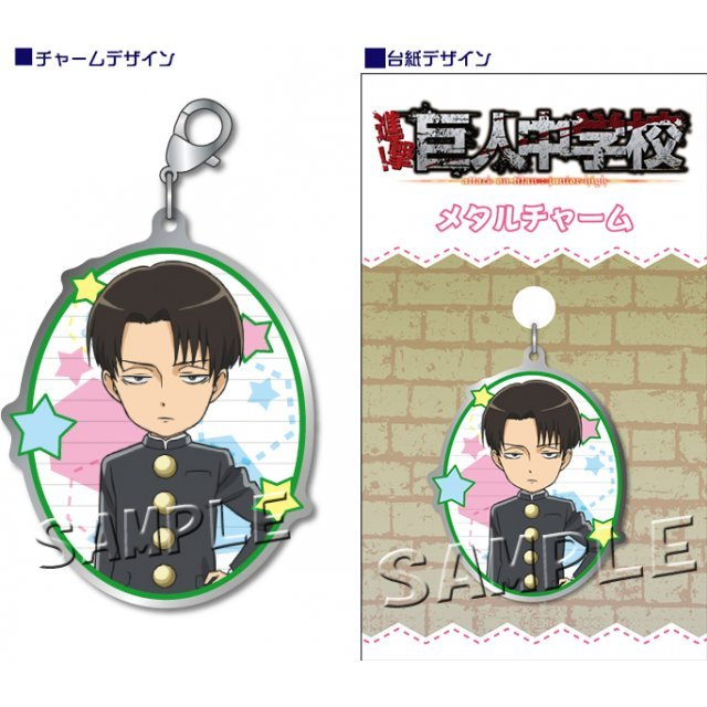 Attack on Titan Junior High Metal Charm: Levi