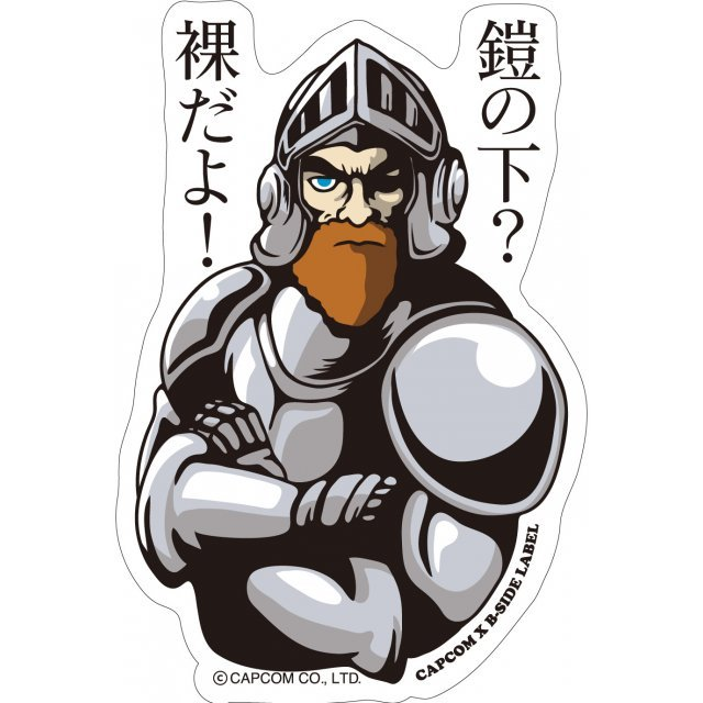 CAPCOM x B-SIDE LABEL Sticker: Ghosts'n Goblins Arthur
