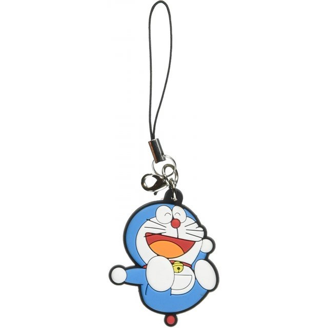 Doraemon Rubber Fastener Charm: Happy