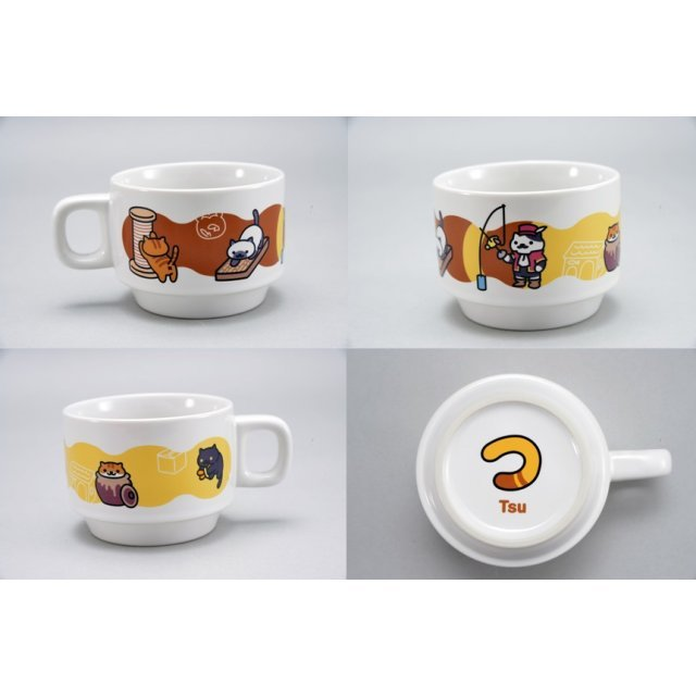 Neko Atsume Stacking Mug: Tsu