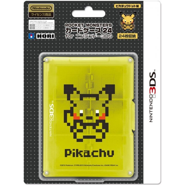 Pokemon Card Case 24 for 3DS (Pikachu Dot)