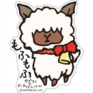 CAPCOM x B-SIDE LABEL Sticker: Monster Hunter X Mofumofu (Re-run)
